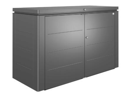 Biohort HighBoard 200 rangement extérieur 200x84x127 cm gris foncé métallique