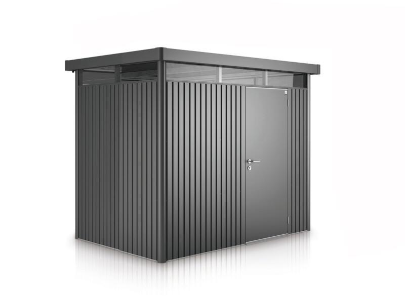 Biohort HighLine H1 tuinhuis 275x155x222 cm metaal donkergrijs metallic