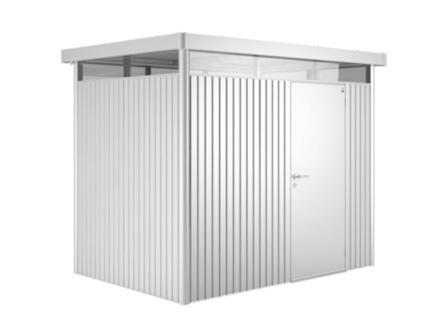 Biohort HighLine H1 tuinhuis 275x155x222 cm metaal zilver metallic