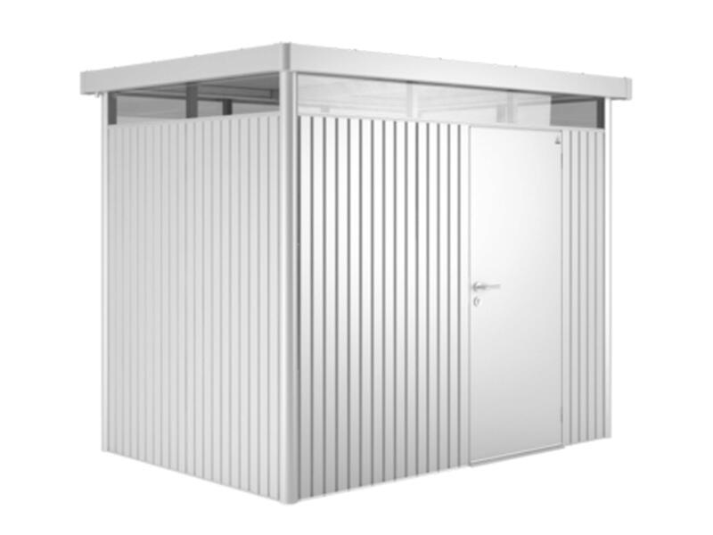 Biohort HighLine H3 tuinhuis 275x235x222 cm metaal zilver metallic