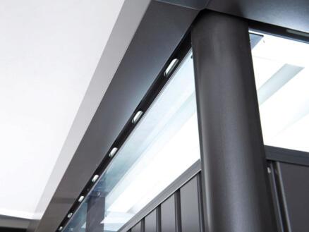 Biohort HighLine H4 abri de jardin 275x275x222 cm métal porte double gris foncé métallique