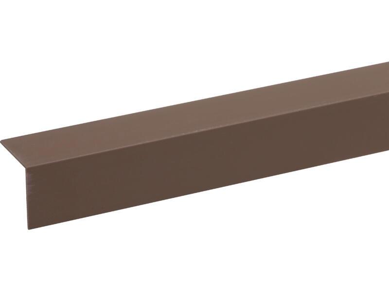 Hoekprofiel 30x30 mm 260cm bruin