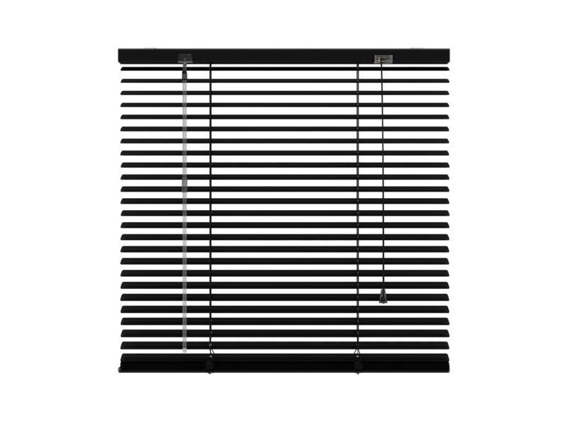 Decosol Horizontale lamellen 25mm 80x180 cm zwart