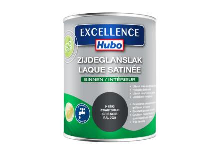 Hubo Excellence lak zijdeglans 0,75l zwartgrijs