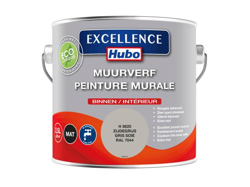 Hubo Excellence muurverf mat 2,5l zijde grijs