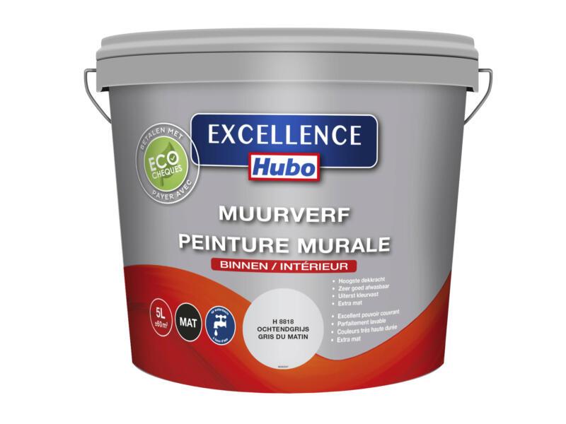 Hubo Excellence muurverf mat 5l ochtendgrijs