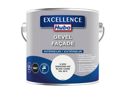 Hubo Excellence peinture façade 2,5l blanc cassé