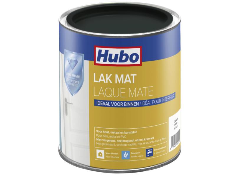 Hubo acryllak mat 0,75l zwart