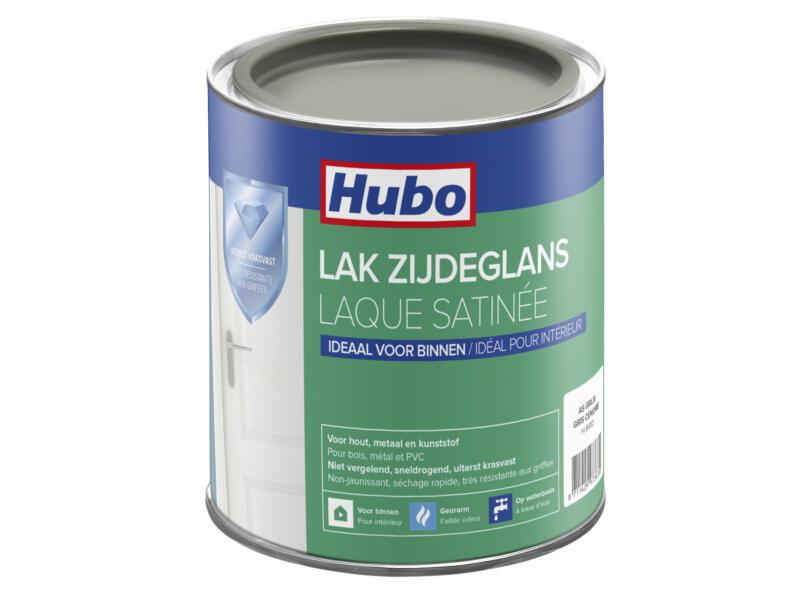 Hubo acryllak zijdeglans 0,75l as grijs