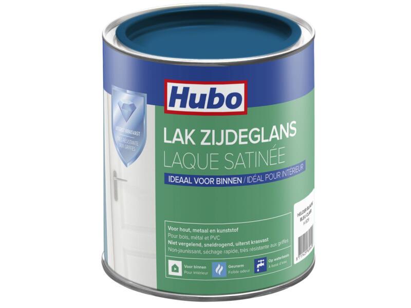 Hubo acryllak zijdeglans 0,75l helder blauw