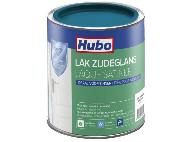 Hubo acryllak zijdeglans 0,75l water blauw