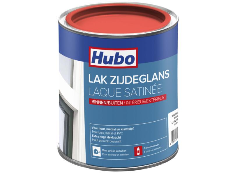 Hubo lak zijdeglans 0,75l warm rood
