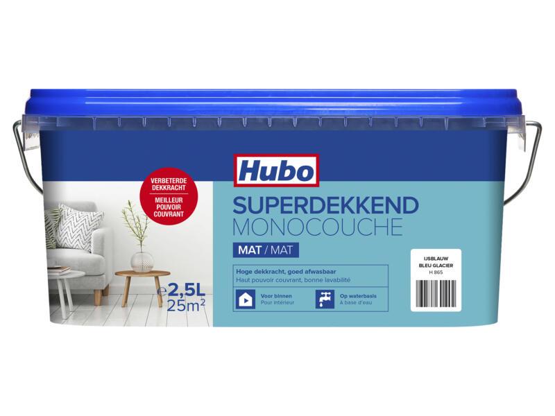 Hubo muur- en plafondverf superdekkend mat 2,5l ijsblauw