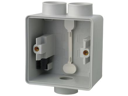 Niko Hydro boîte en saillie 1 entrée M20 simple + 1 entrée M20 double gris