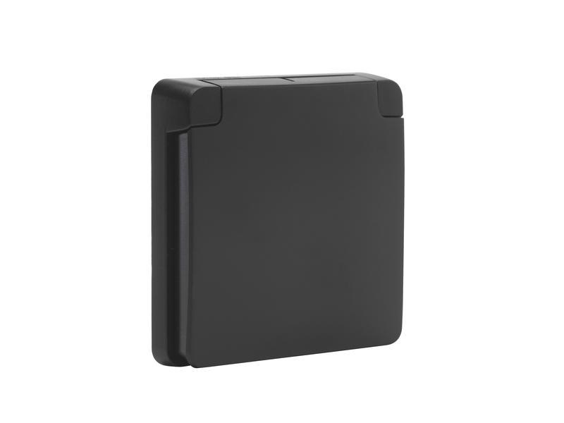 Niko Hydro cadre d'adaptation avec couvercle noir
