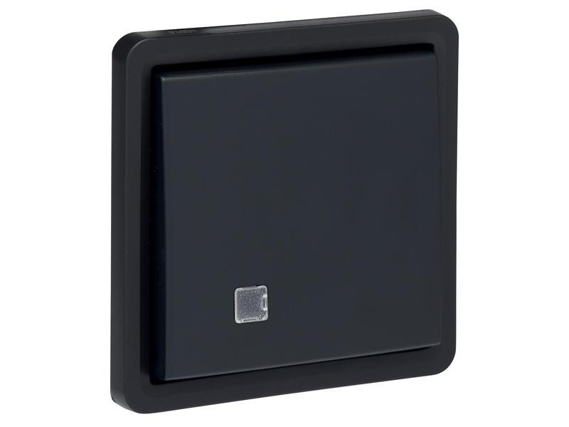 Niko Hydro dubbele drukknop met controlamp zwart