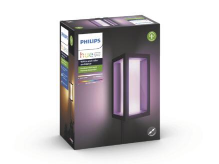 Philips Hue Impress White and Color Ambiance applique murale extérieure LED 8W dimmable noir