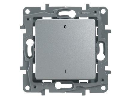 Legrand Interrupteur bipolaire Niloé aluminium