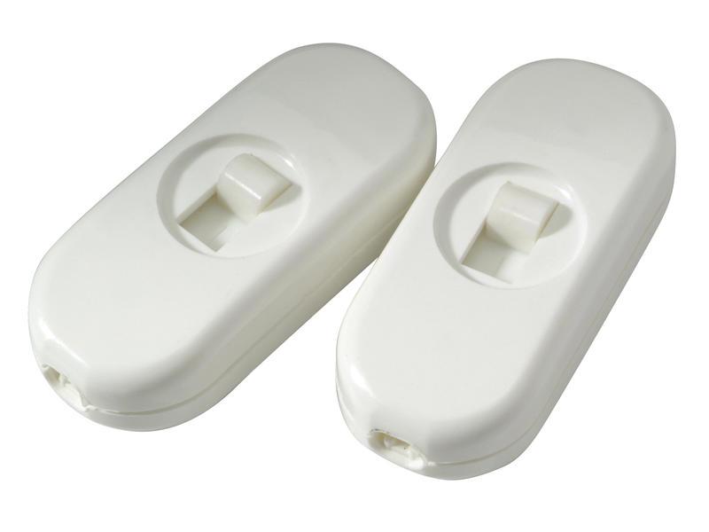 Interrupteur de passage blanc 2 pièces