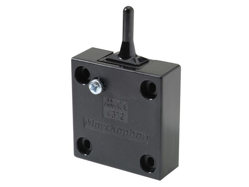 Interrupteur meuble 4A brun