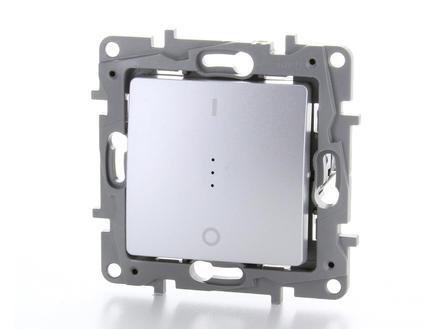 Legrand Interrupteur témoin bipolaire Niloé aluminium