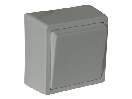 Interrupteur unipolaire 10A à poser blanc