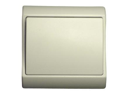 Interrupteur unipolaire 10A encastrable blanc
