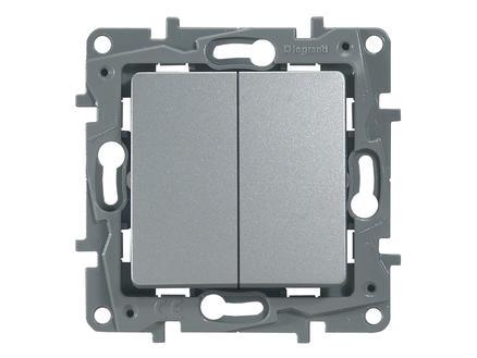 Legrand Interrupteur va-et-vient Niloé double aluminium