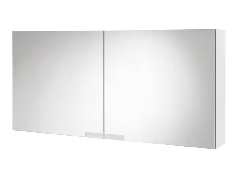 Tiger Items armoire de toilette 105cm 2 portes miroir blanc