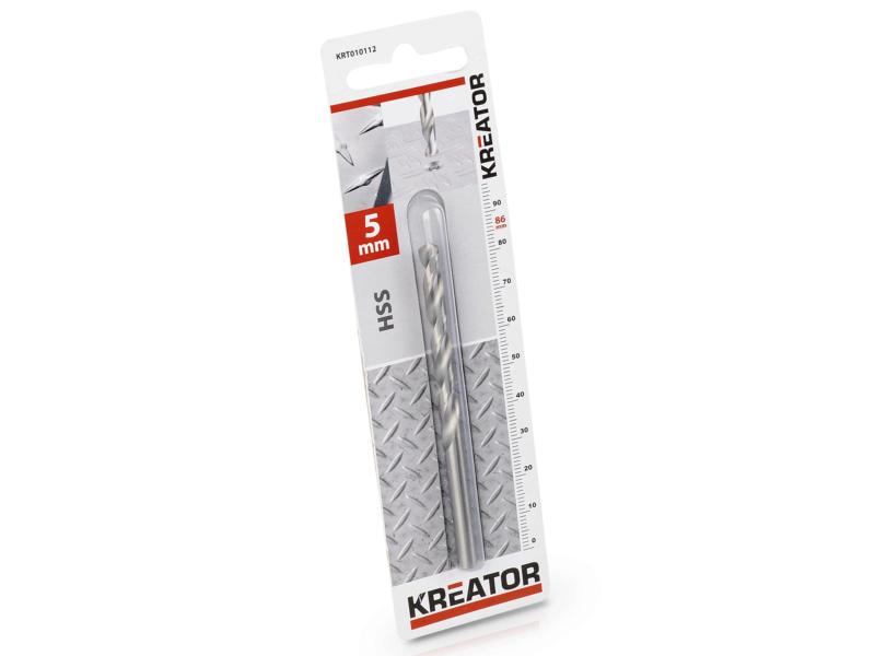 Kreator KRT010112 foret à métaux HSS 5mm