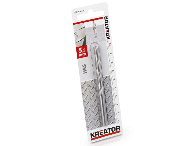 Kreator KRT010113 foret à métaux HSS 5,5mm