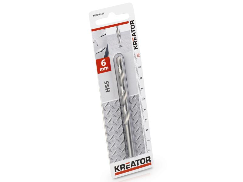 Kreator KRT010114 foret à métaux HSS 6mm