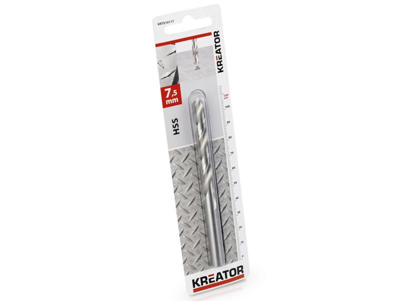 Kreator KRT010117 metaalboor HSS 7,5mm
