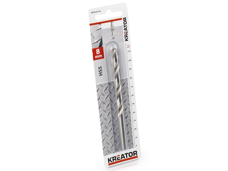 Kreator KRT010118 foret à métaux HSS 8mm