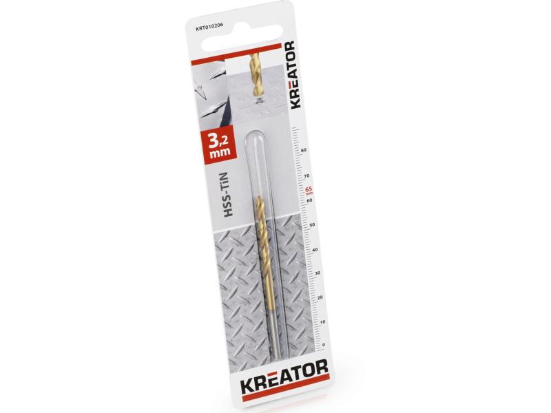 Kreator KRT010206 foret à métaux HSS-TiN 3,2mm