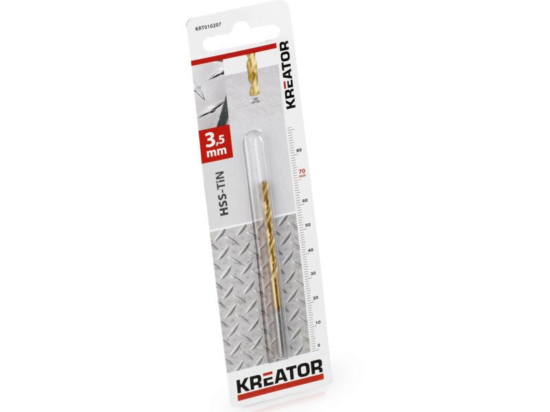 Kreator KRT010207 foret à métaux HSS-TiN 3,5mm