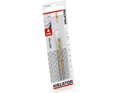 Kreator KRT010208 foret à métaux HSS-TiN 4mm