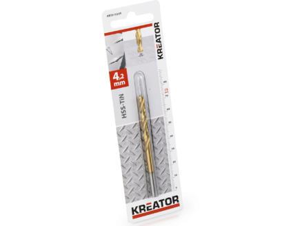 Kreator KRT010209 foret à métaux HSS-TiN 4,2mm