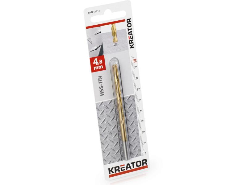 Kreator KRT010211 foret à métaux HSS-TiN 4,8mm