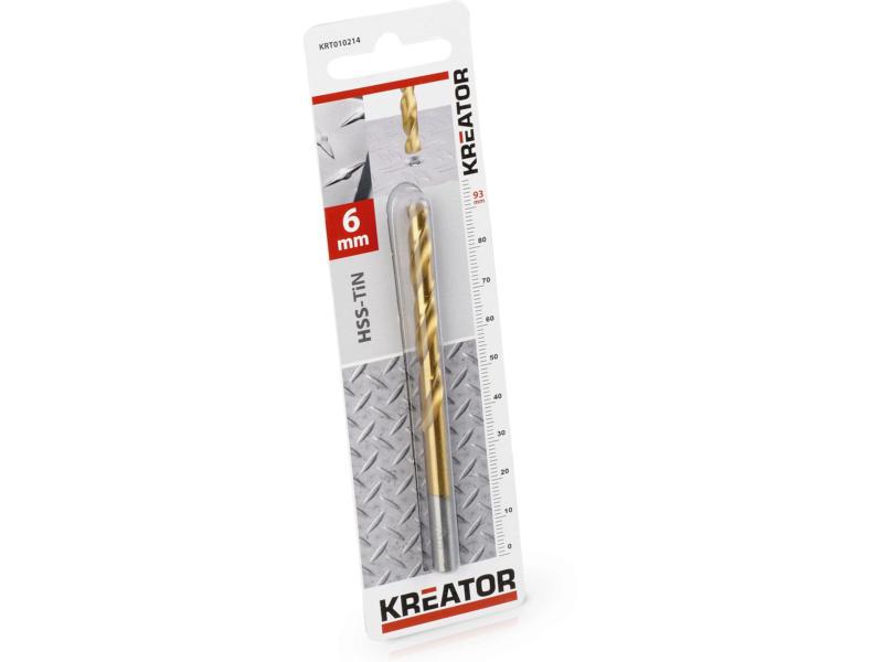 Kreator KRT010214 foret à métaux HSS-TiN 6mm