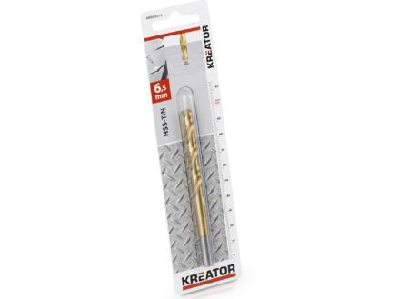 Kreator KRT010215 foret à métaux HSS-TiN 6,5mm