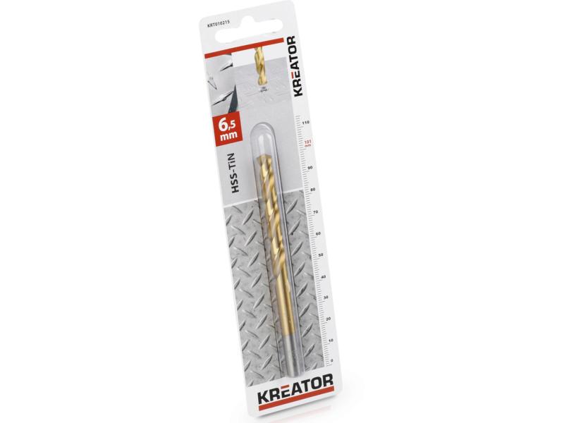 Kreator KRT010215 metaalboor HSS-TiN 6,5mm