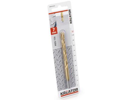 Kreator KRT010216 foret à métaux HSS-TiN 7mm