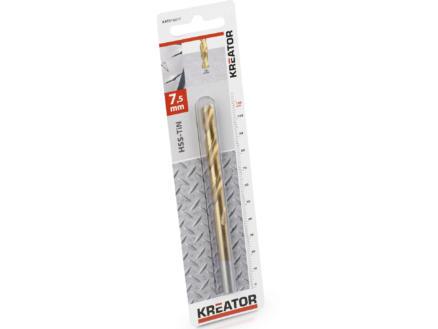 Kreator KRT010217 metaalboor HSS-TiN 7,5mm