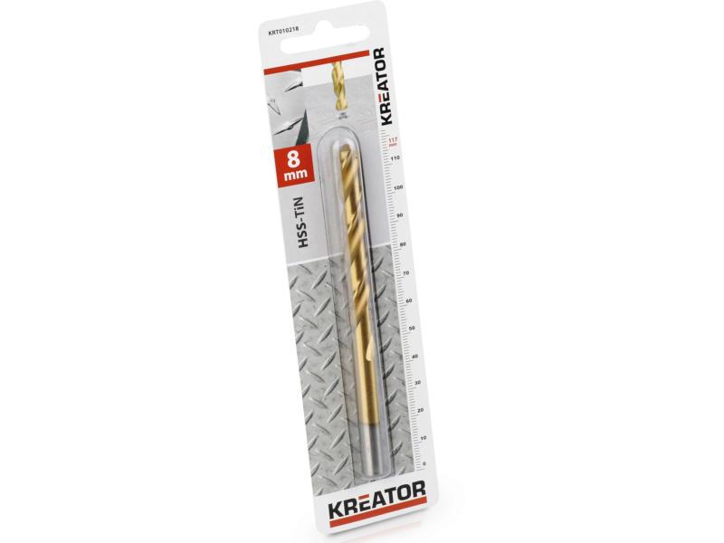 Kreator KRT010218 foret à métaux HSS-TiN 8mm