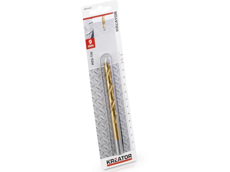 Kreator KRT010220 metaalboor HSS-TiN 9mm