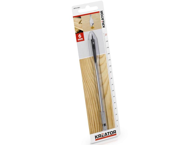 Kreator KRT010801 mèche à bois plate 6mm