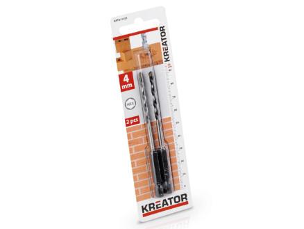 Kreator KRT011401 steenboor HEX 4mm 2 stuks