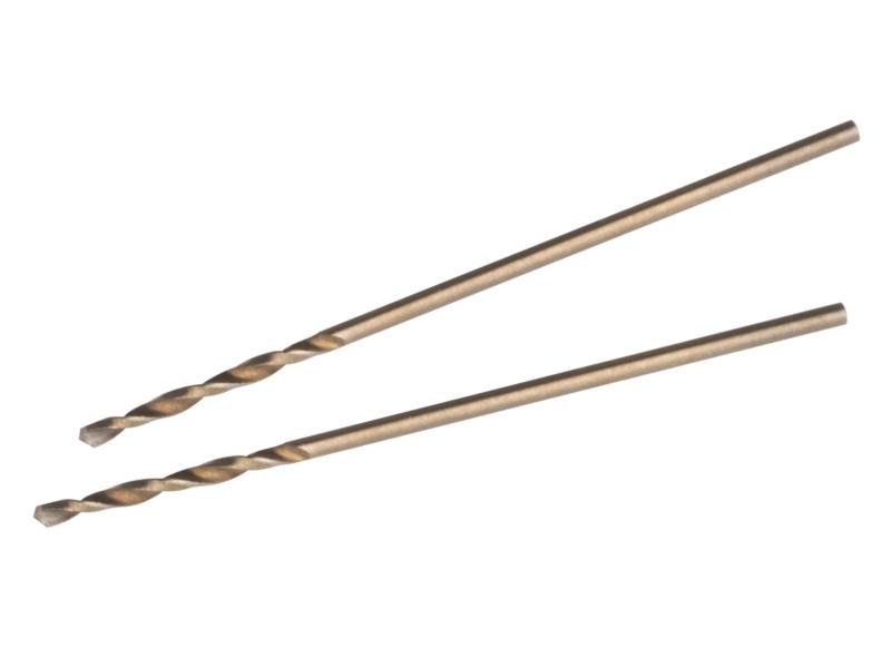 Kreator KRT011501 foret cobalt à métaux HSS-Co 1mm 2 pièces