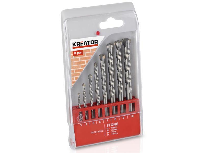 Kreator KRT012202 mèches à pierre 3-10 mm set de 8
